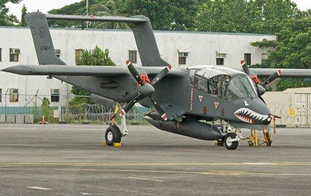 资料图片:菲律宾空军装备的美制OV-10巡逻机。(图片来源于网络)