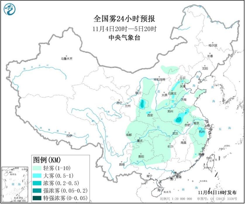 明天北京这些地区有雾和霾