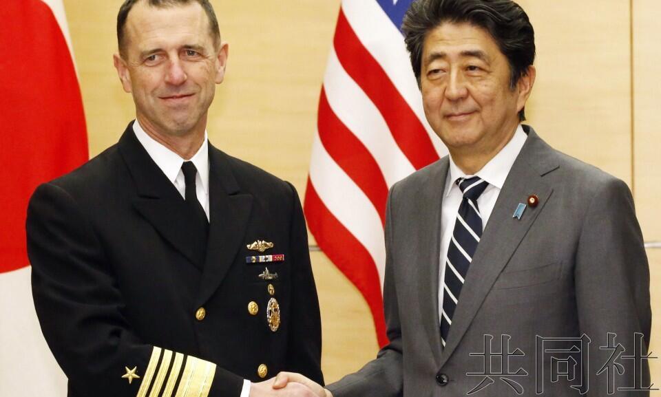 安倍会见美海军最高武官 称希望强化美日同盟合