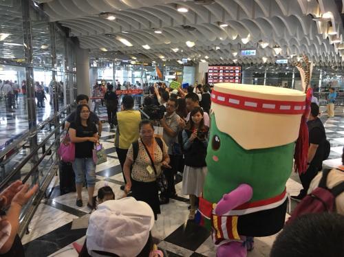 """花莲与金门的观光包机直飞今日启航。图片来源:台湾""""中广新闻网"""""""