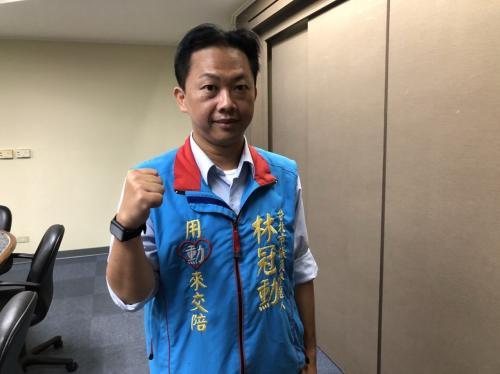 """台北市国民党""""立委""""参选人林冠勋。台湾《联合报》记者陈靖宜摄影"""