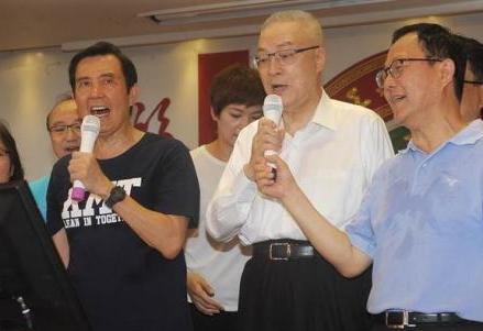马英九与吴敦义同台(来源:中时电子报)
