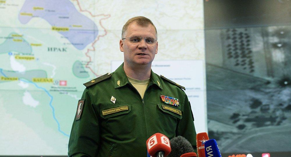 资料图:俄国防部发言人。