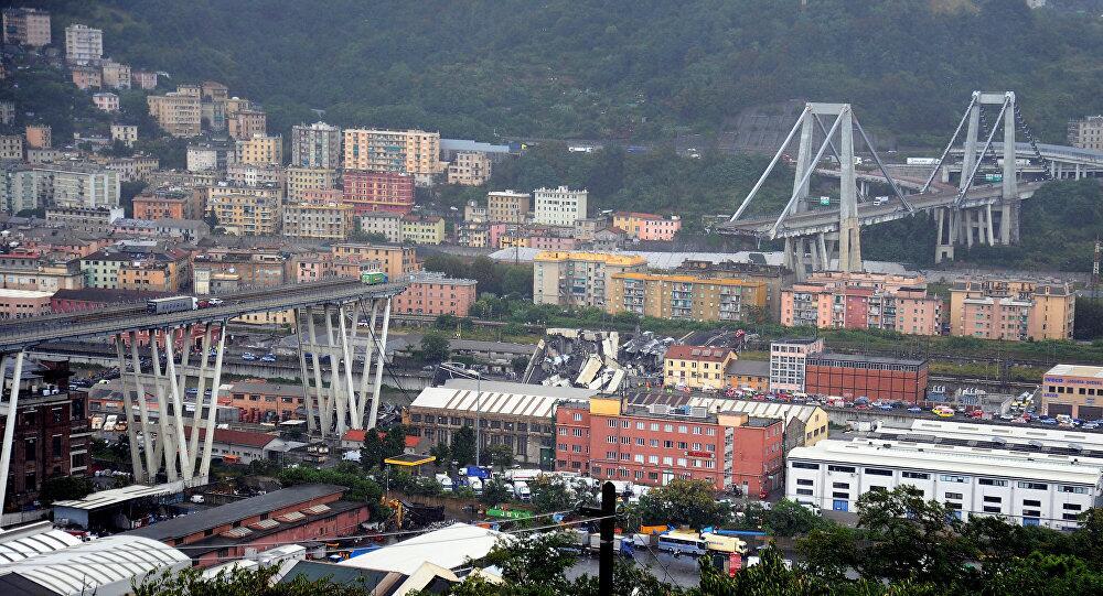 意大利高架桥倒塌已38死 桥梁运营