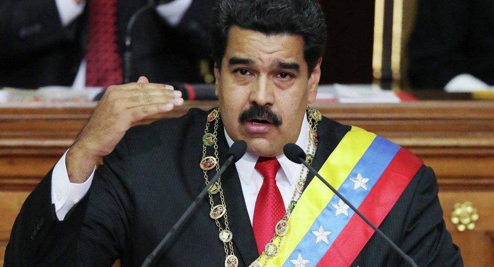 """特朗普为委内瑞拉反对派公开""""站台"""" 马杜罗回击"""