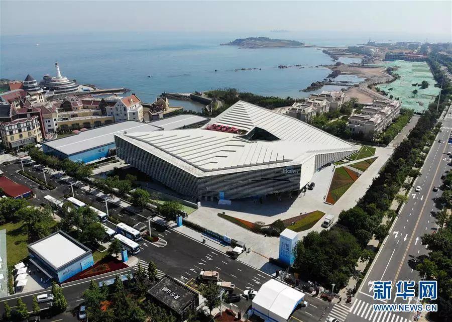 ▲位于青岛市崂山区东海路上的上海合作组织青岛峰会新闻中心
