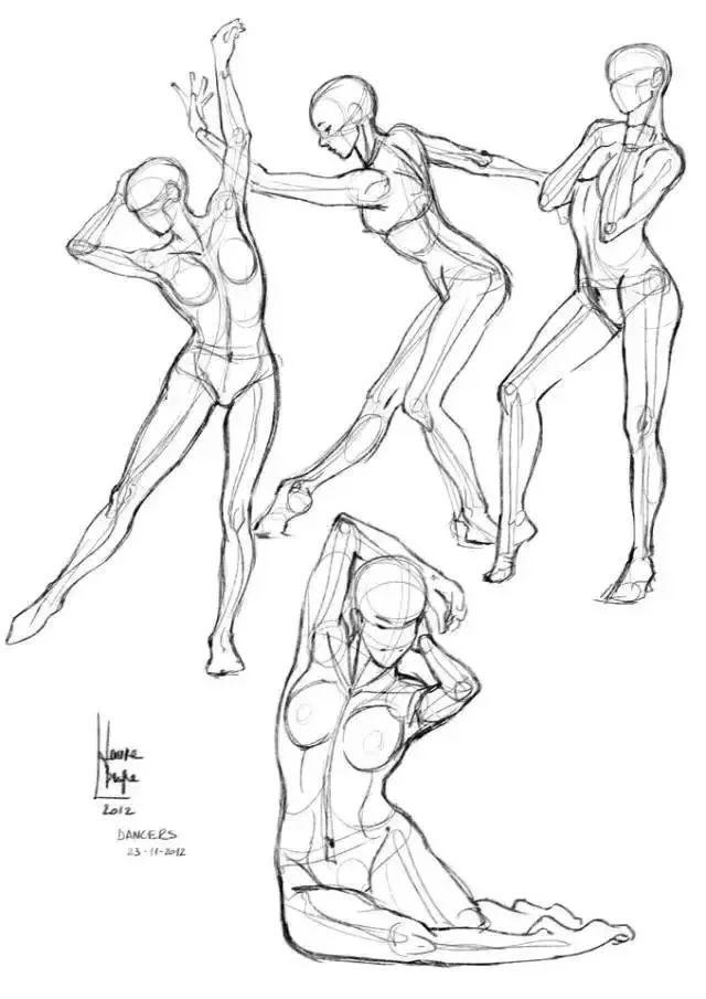想画好速写,必须先掌握人体动态结构(收藏素材)图片