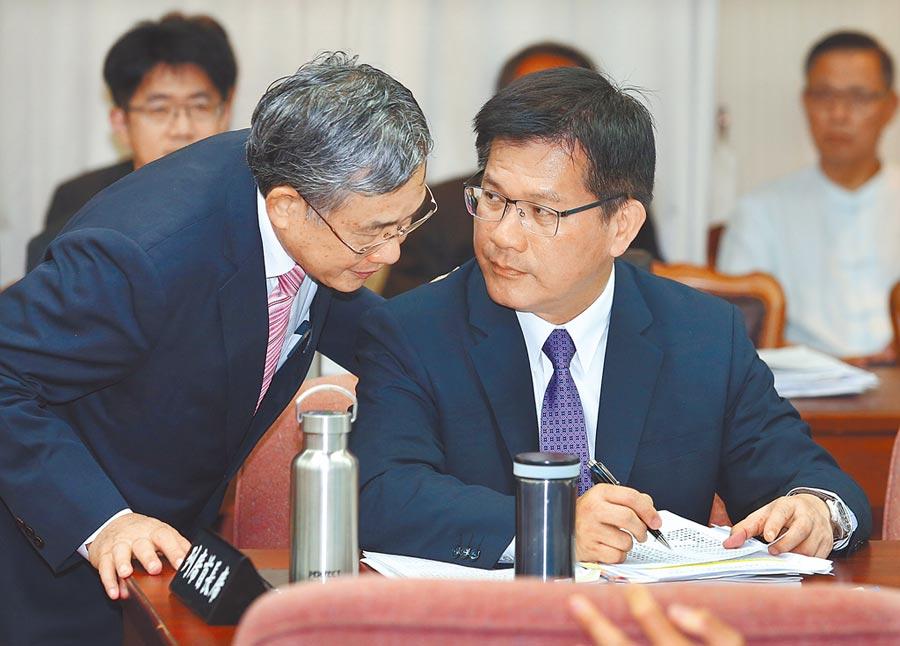 林佳龙(左)、吴宗枯(左)