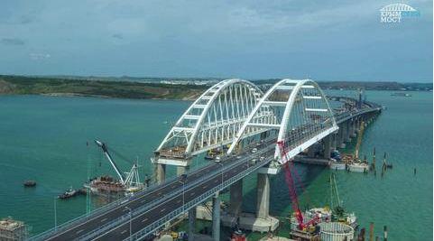 克里米亚大桥全貌。(图片来源:今日俄罗斯)
