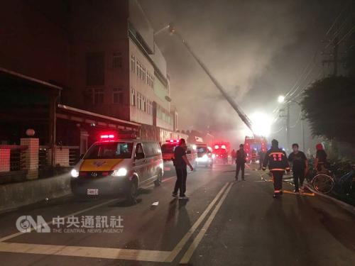 台湾桃园工厂致7死火灾被扑灭 火势猛烈燃烧40小时