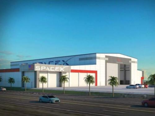"""SpaceX设计中的火箭""""停机坪""""。(图片来源:NASA)"""