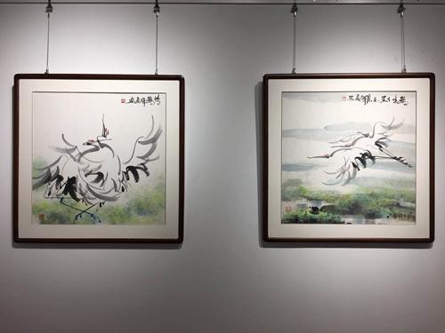 赏鹤去!武辉夏丹顶鹤专场画展亮相秋央美术馆