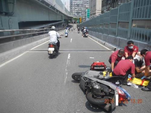 台北1-8月半数车祸死者为18-25岁摩托车骑手