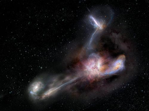 研究发现宇宙中最明亮星系正在吞食其临近星系