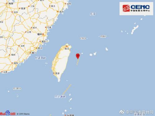 中国地震台网:台湾花莲海域地震发生5.1级地震 震源深度16千米