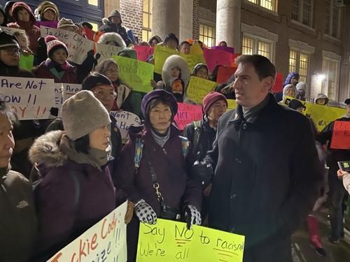 纽约教育理事会成员涉歧视亚裔引抗议 已经道歉