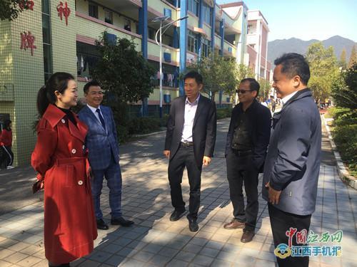 刘洁兰一行到萍乡武功山中专大安校区调研指导工作(图)