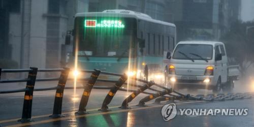 """第19号台风""""苏力""""登陆韩国 中使馆发布防范提醒"""