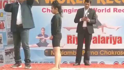 印度北部村庄一位11岁的少女正在打破世界纪录。