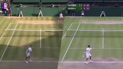 这一大早的,我来戳个心。  温网男单决赛中费德勒错过的两个赛点