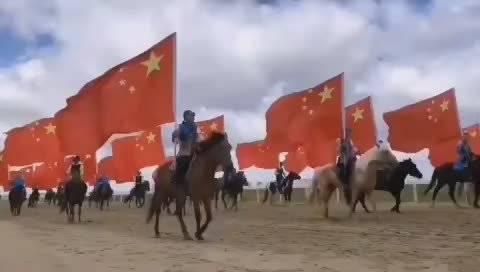 鲜艳的五星红旗迎风飘扬,我和我的祖国一刻也不能分割