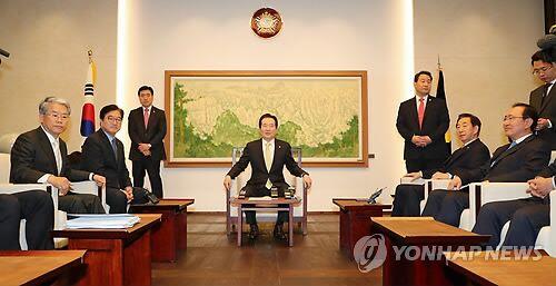 4月9日,韩国国会召开例会。