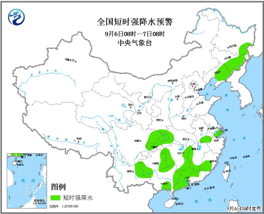 强对流天气蓝色预警:吉林辽宁等局地将有雷暴大风或冰雹