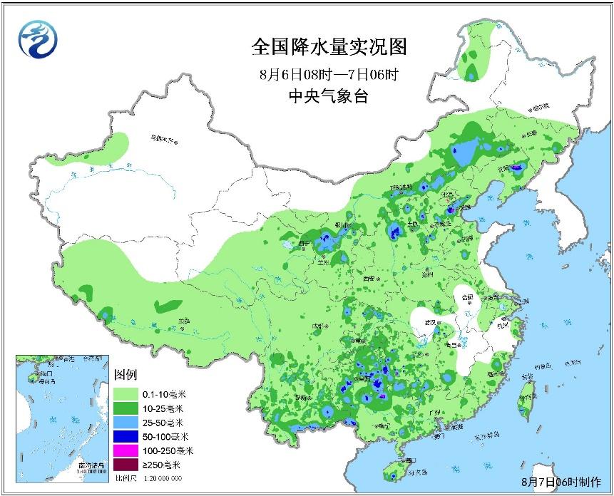 华北东北今有大到暴雨 南方高温范围扩大