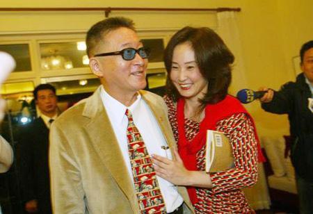2005年李敖访问大陆时,和女儿李文相聚。 资料图
