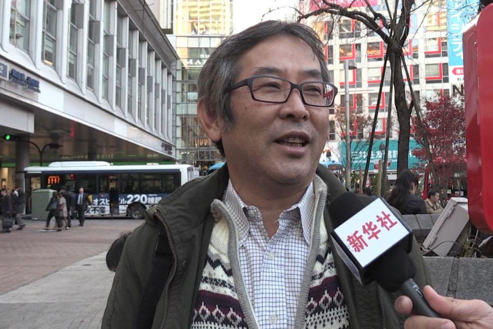 中村明接受采访。(视频截图)