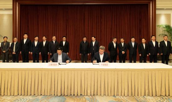 上海市与中建集团签署协议 加强重大项目、科研和前沿业务等方面合作