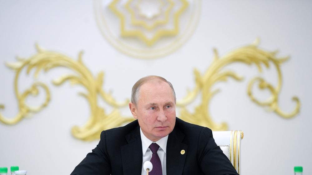 俄总统普京正参与独联体领袖会。(图源:路透社)