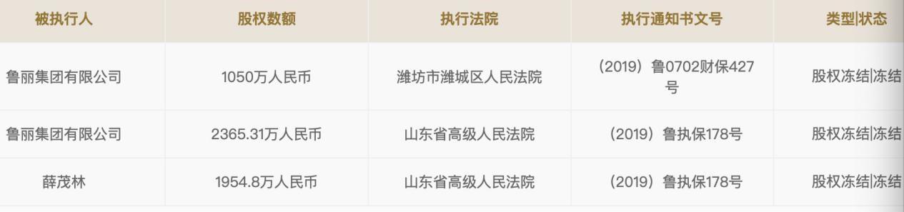 潍坊最大民企鲁丽集团跌落