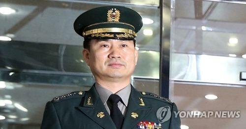 图注:韩国国防部对朝政策官金道均(音)少将