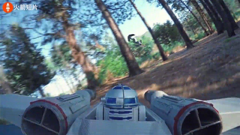 国外创意团队Corridor用无人机实拍了一部《星球大战》
