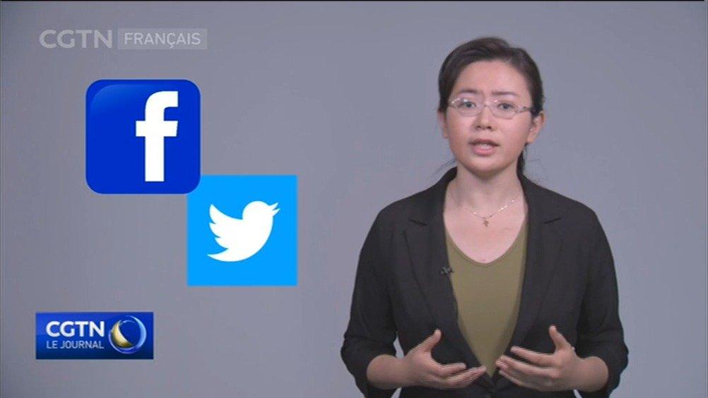 """美国社交媒体查封大量中国用户账号 CGTN法语频道记者:这是否就是美国的""""言论自由""""?"""