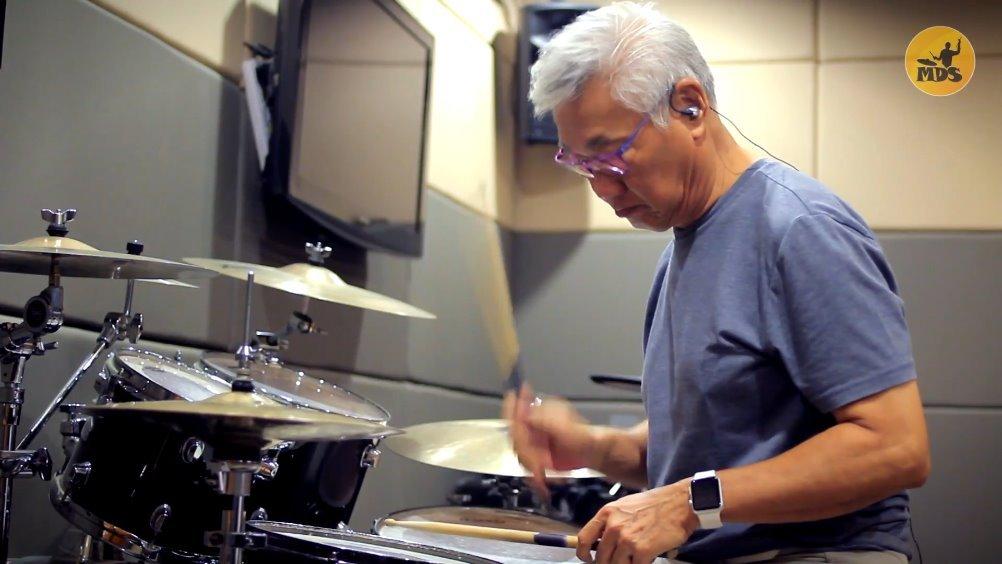 厉害了!没想到林俊杰六十多岁老爸的爵士鼓真有一手!
