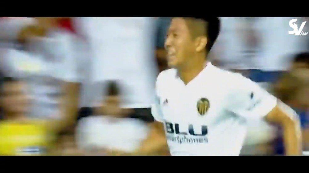 韩国18岁的李康仁目前已经是瓦伦西亚的一线队球员