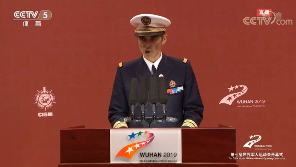 国际军体主席赫尔维·皮奇里洛致辞:武汉军运村堪称典范