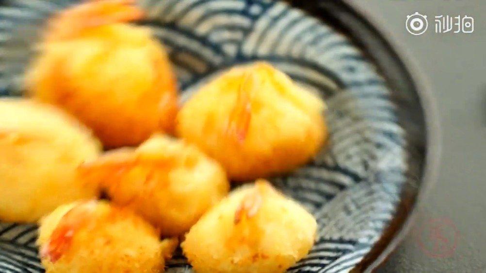 【芝士虾球】[挖鼻]天冷!晚餐吃点儿有热量的不过分吧!