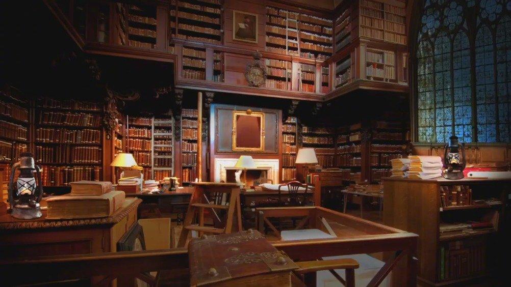 【《哈利波特》主题白噪音】地点在霍格沃茨图书馆,外面正下着雨