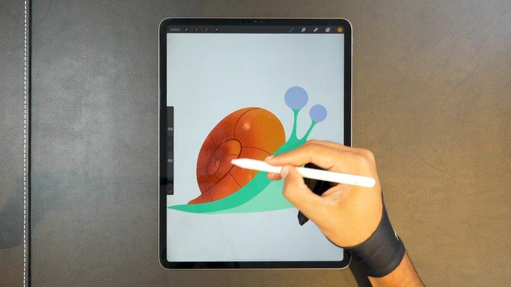 《丑萌的蜗牛》 扁平化矢量板绘, (美术视频)分享 。 图形设计