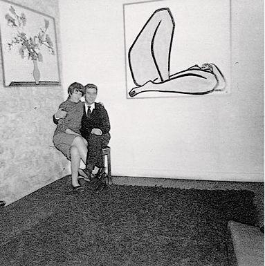 1965年,常玉在勒维的巴黎别墅中举办最后一个展览 图片来源/立青文教基金会提供