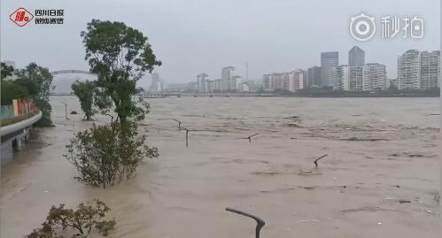 连续大暴雨 四川绵阳或爆发建国来最大洪水