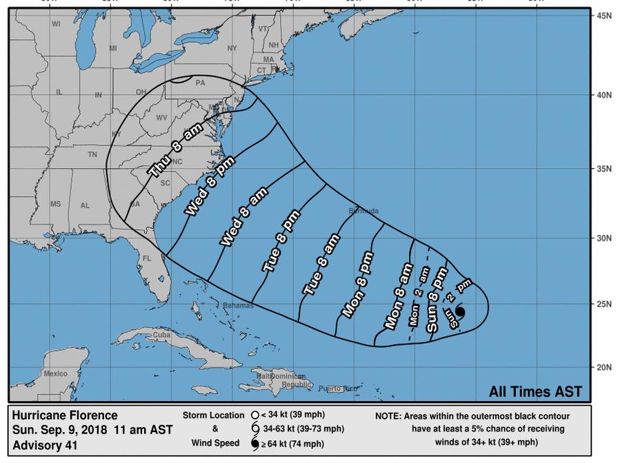 热带风暴变飓风 美国东岸忙备灾