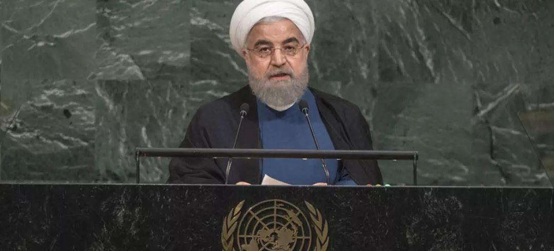 ▲伊朗總統魯哈尼在聯大發表講話