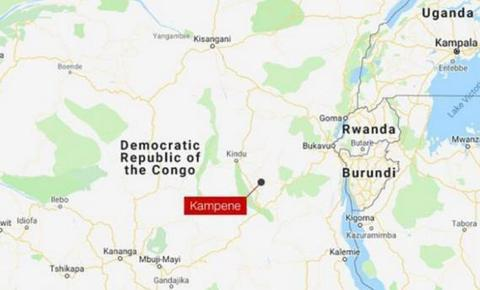 红色标识为矿难发生地点——坎佩内镇(图源:CNN)