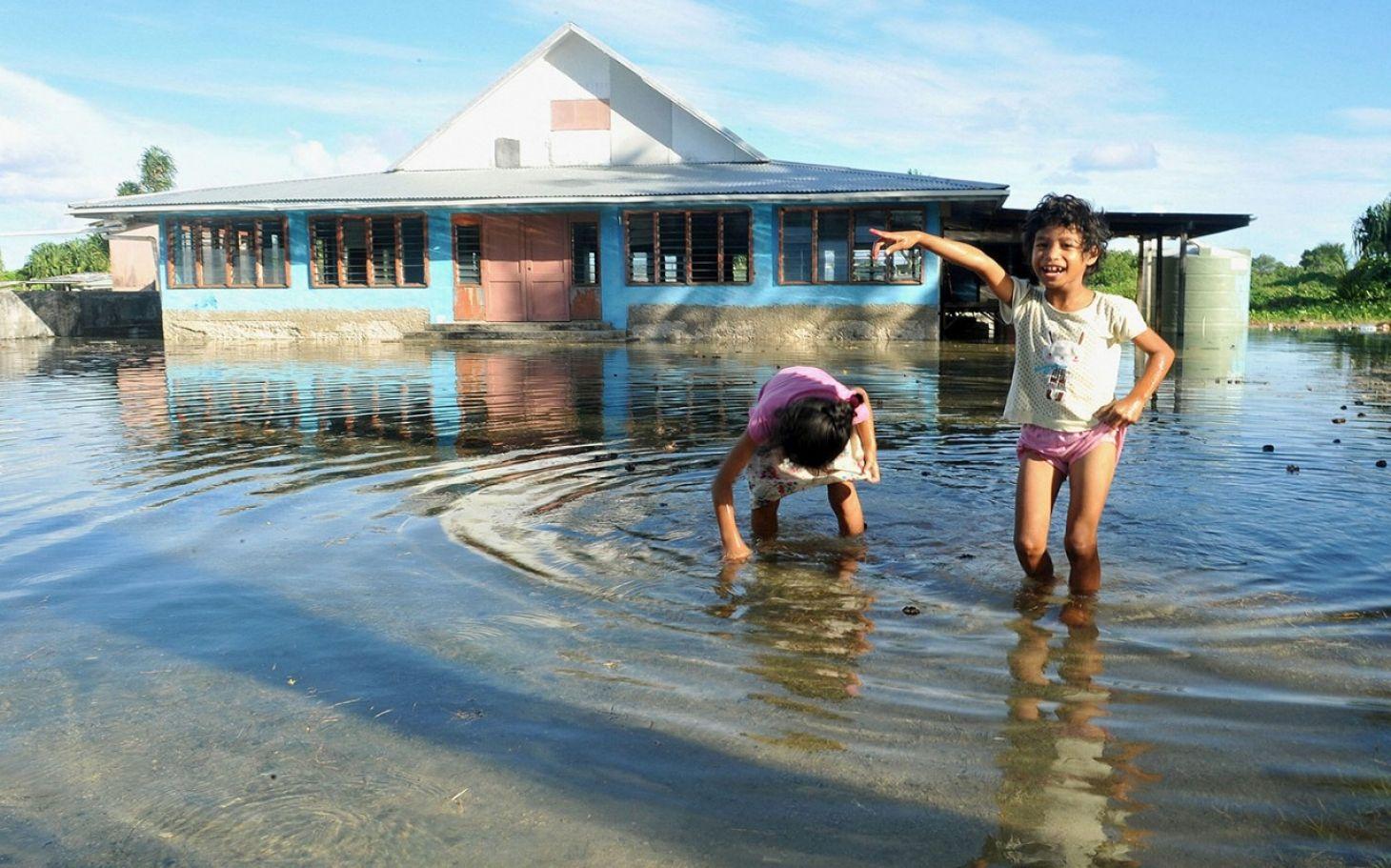 海平面上升已導致部分太平洋島國的居民房屋被淹