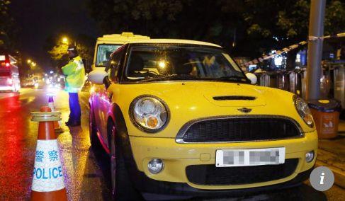 ▲涉案汽车,黄色Mini Cooper。图据《南华早报》