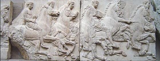 埃尔金大理石雕,在英国大英博物馆展出 图片来源:维基百科